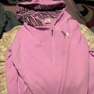 XS Pink Victoria Secret ZIP Down Hoodie